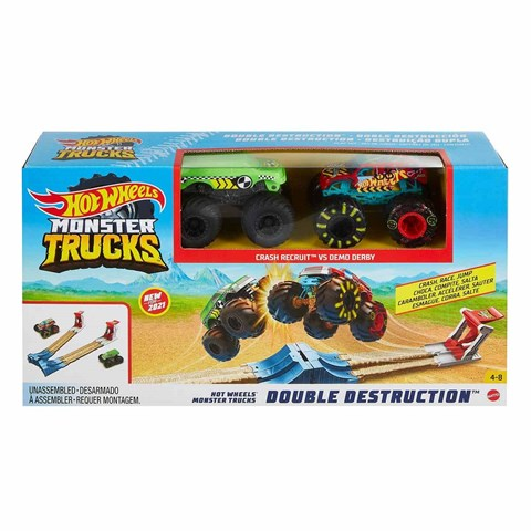 Hot Wheels Monster Trucks Çifte Çarpışma Oyun Seti GYC80