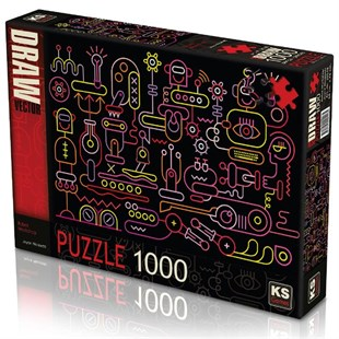 Ks Games Robot Workshop 1000 Parça Puzzle